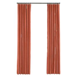 Flame Red Thin Stripe Outdoor Curtains Close Up