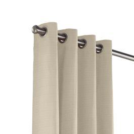 Tan Sunbrella® Canvas Outdoor Grommet Curtains Close Up