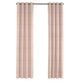 Pale Coral Trellis Outdoor Grommet Curtains Close Up