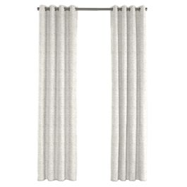 White & Gray Marled Outdoor Grommet Curtains Close Up