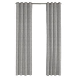 Gray Marled Outdoor Grommet Curtains Close Up