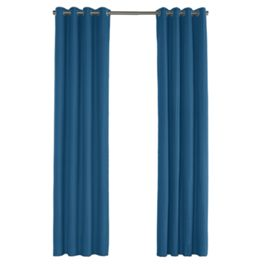 Royal Blue Sunbrella® Canvas Outdoor Grommet Curtains Close Up