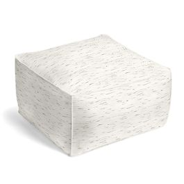 White & Gray Marled Outdoor Pouf