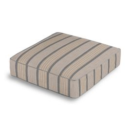 Tan & Gray Stripe Outdoor Floor Cushion