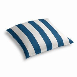 Royal Blue Awning Stripe Outdoor Floor Pillow