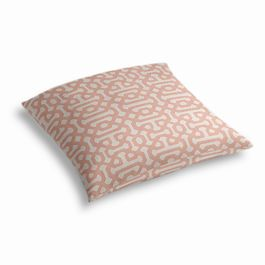 Pale Coral Trellis Outdoor Floor Pillow