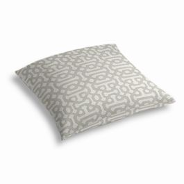 Light Gray Trellis Outdoor Floor Pillow