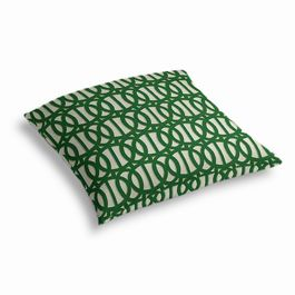 Emerald Green Trellis Outdoor Floor Pillow