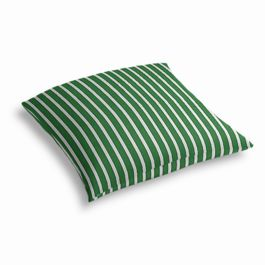 Emerald Green Thin Stripe Outdoor Floor Pillow