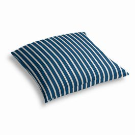 Bright Blue Thin Stripe Outdoor Floor Pillow