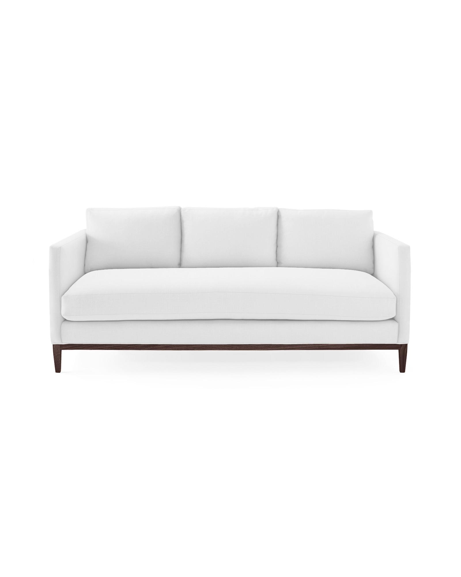 White Barton Sofa from Serena & Lily. #whitesofas #coastalstyle #classicstyle
