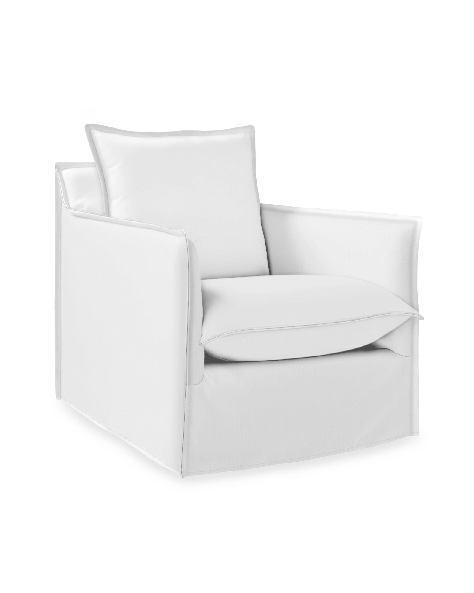 Sundial Outdoor Swivel Chair - Slipcovered