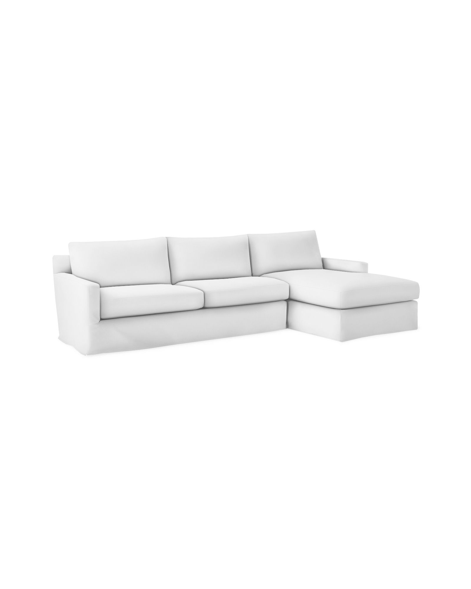 Summit Slipcovered Chaise Sectional - Right-Facing