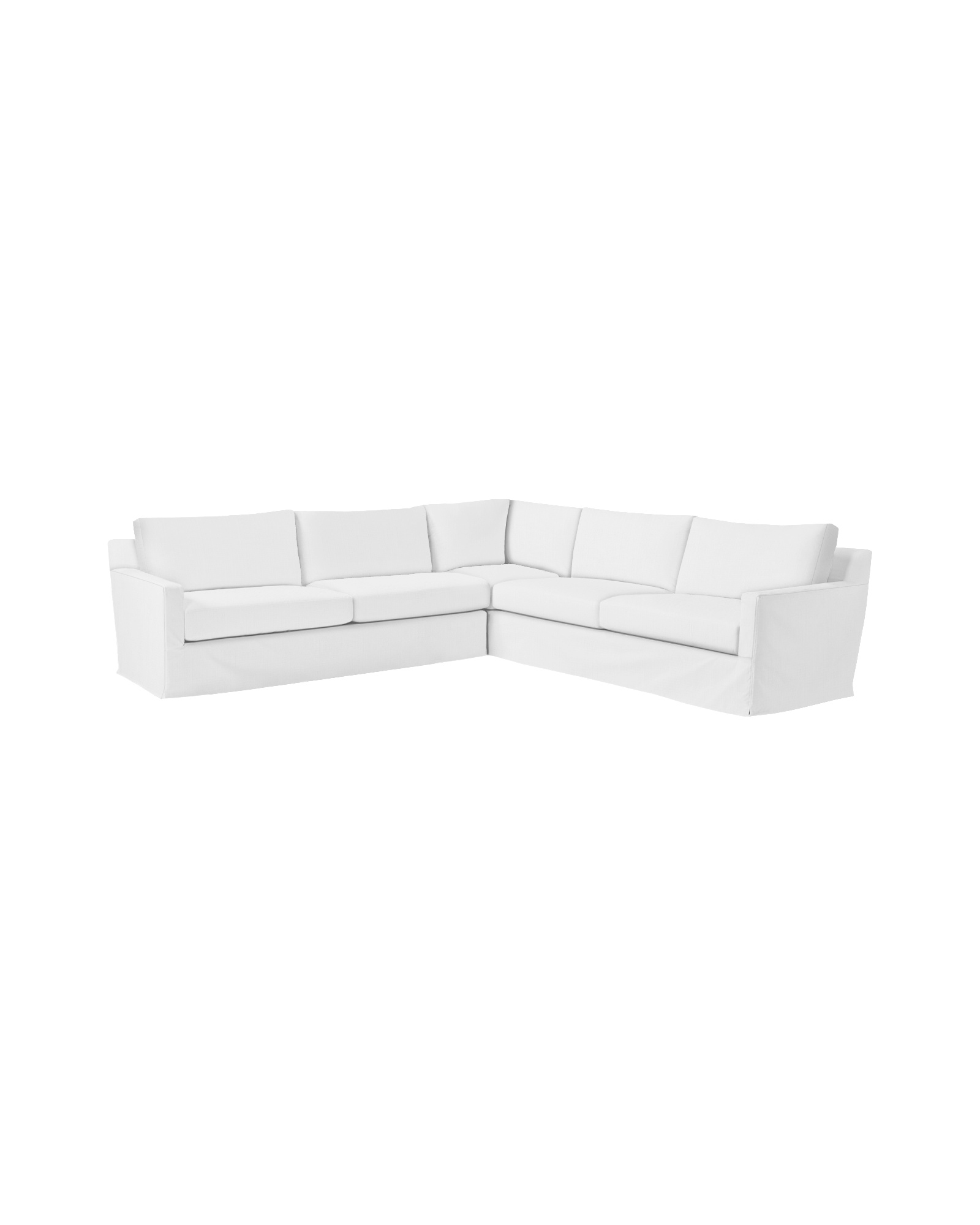 Summit Slipcovered L-Sectional - Left-Facing