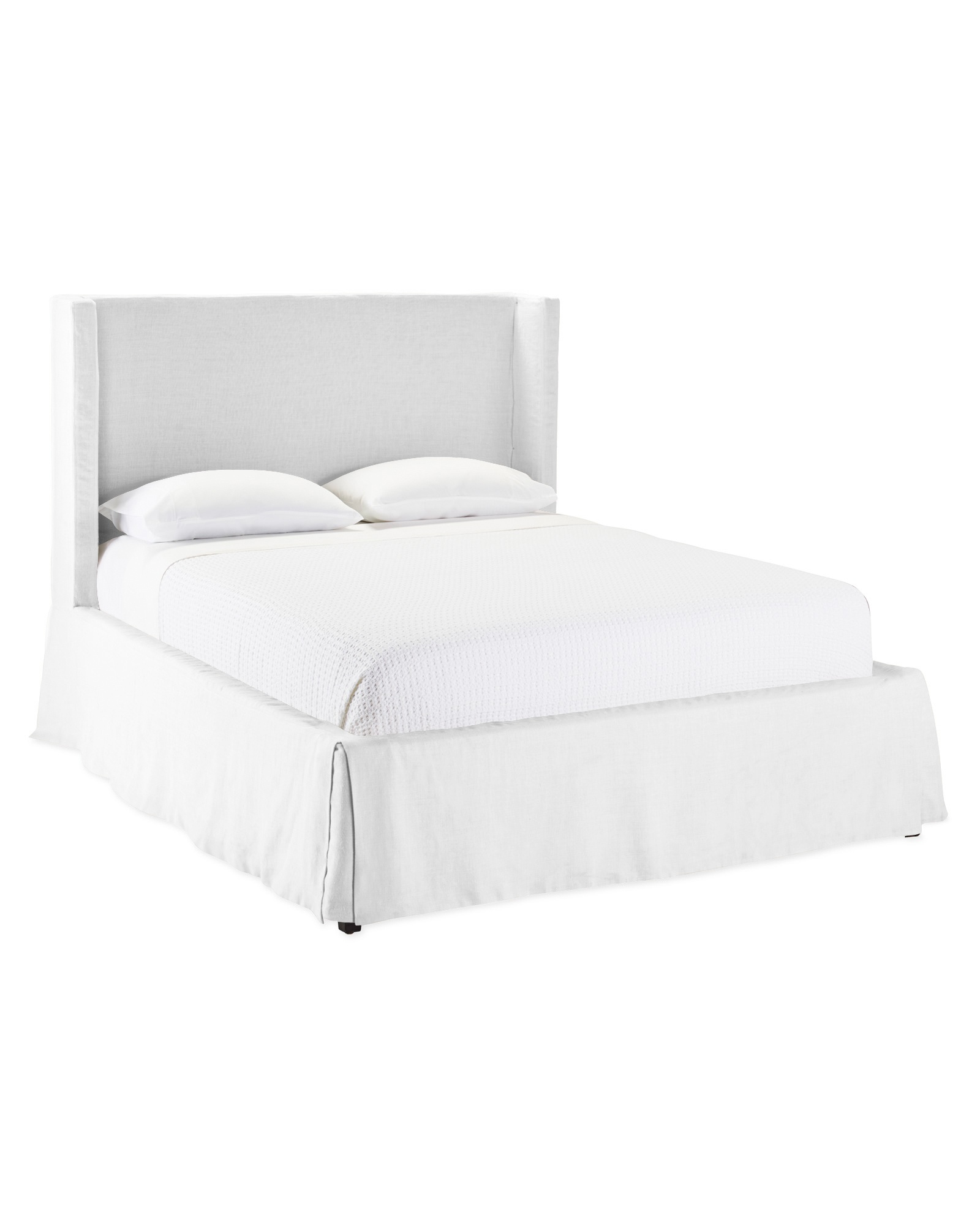 Tall Broderieck Slipcovered Bed - Serena & Lily
