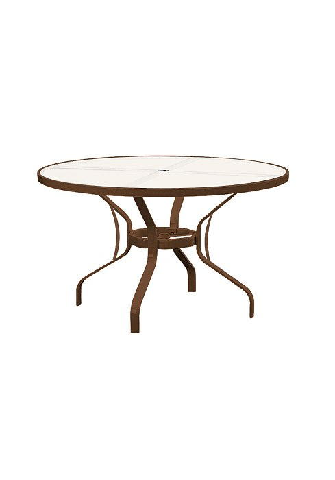 Outdoor Table Parts : Obscure glass quot round kd dining umbrella table