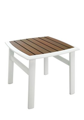 "19"" Curved Square KD Tea Table"