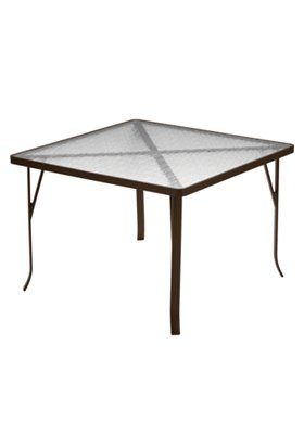 acrylic square patio dining table