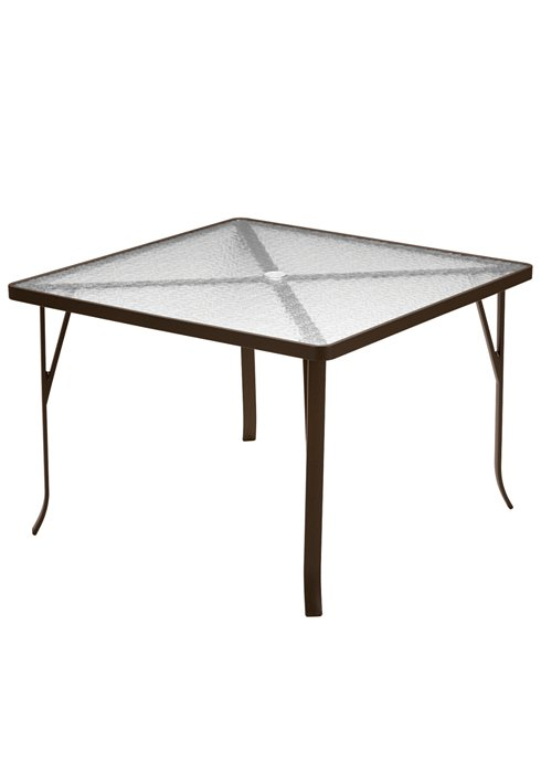 patio square acrylic dining table