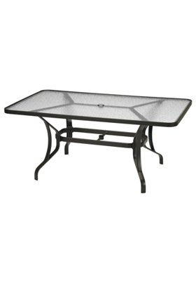 Obscure Glass 66 X 40 Rectangular Kd Dining Umbrella Table Commercial Residential Patio Tables Tropitone