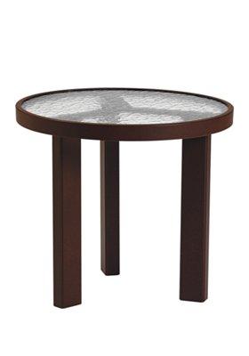 acrylic round patio tea table