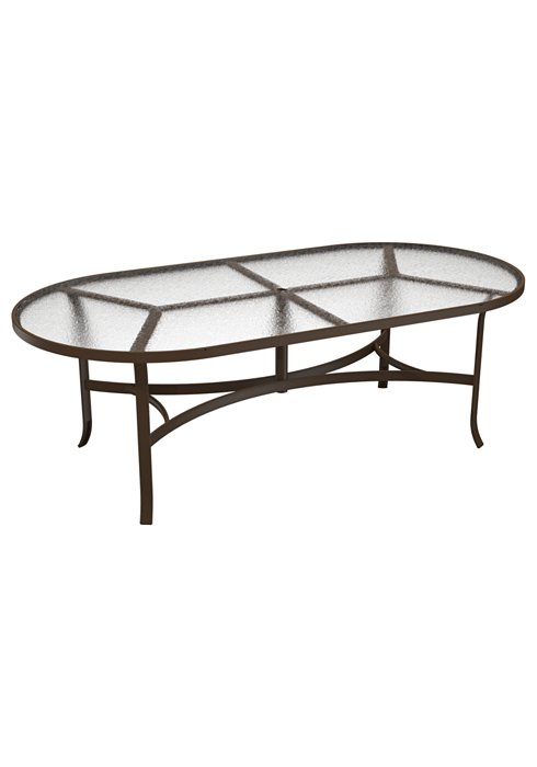 oval acrylic patio dining umbrella table