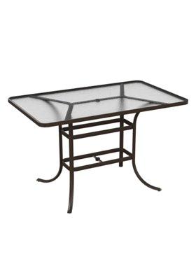 acrylic patio rectangular bar table