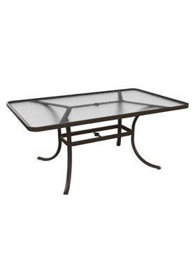 acrylic rectangular patio dining table