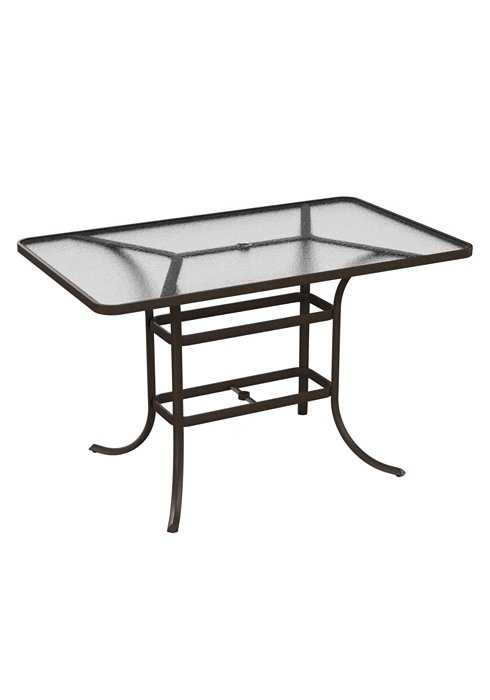 acrylic rectangular outdoor bar table