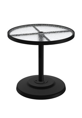 pedestal acrylic round patio dining table