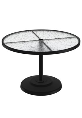 round acrylic pedestal outdoor dining table