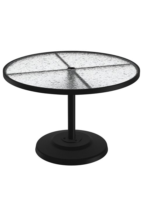 Acrylic 42 Quot Round Kd Pedestal Dining Umbrella Table