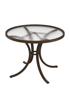 acrylic round outdoor dining table