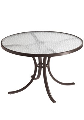 acrylic round patio dining table