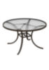 Round Acrylic Patio Dining Table