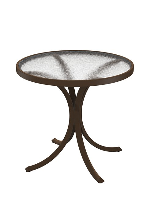 acrylic outdoor round dining table