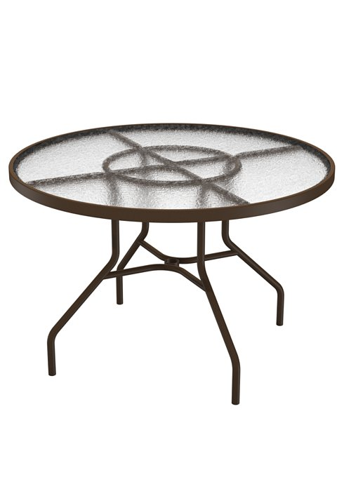 acrylic patio round dining table
