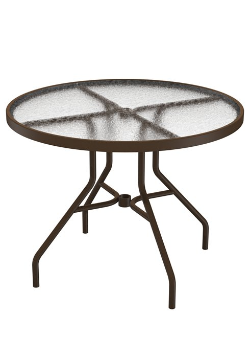 patio acrylic round dining table