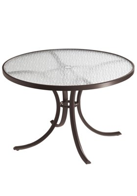 acrylic round patio dining umbrella table