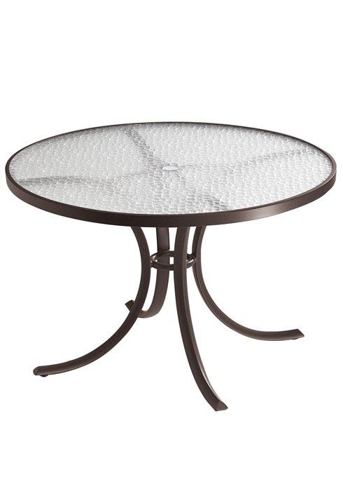acrylic round patio dining umbrella table