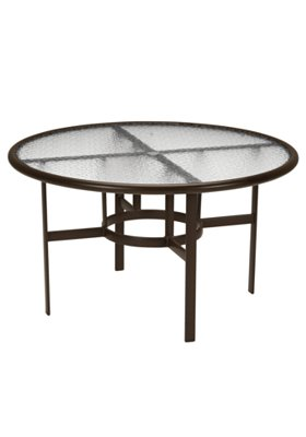 acrylic round outdoor dining umbrella table