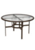 Acrylic Round Outdoor Dining Umbrella Table