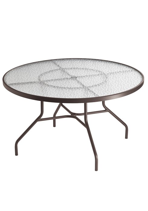 Acrylic 48 Quot Quot Round Dining Umbrella Table Commercial