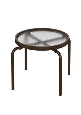 acrylic round outdoor tea table