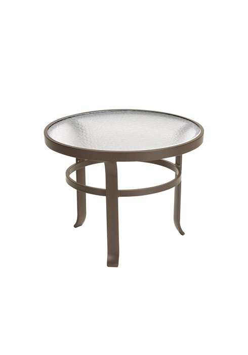 acrylic outdoor round tea table