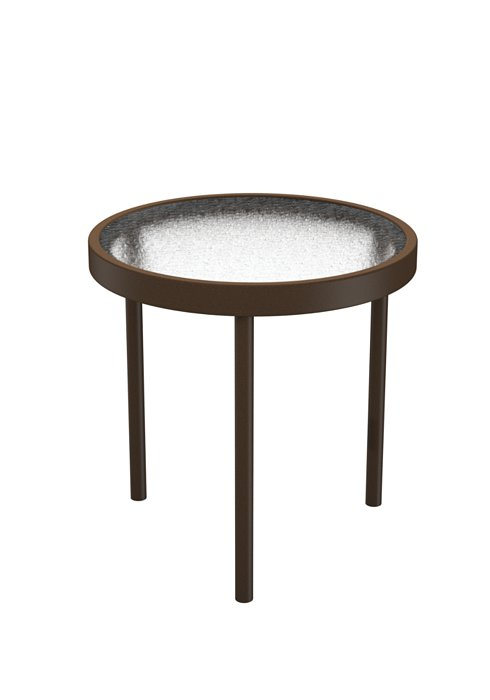 round acrylic outdoor tea table