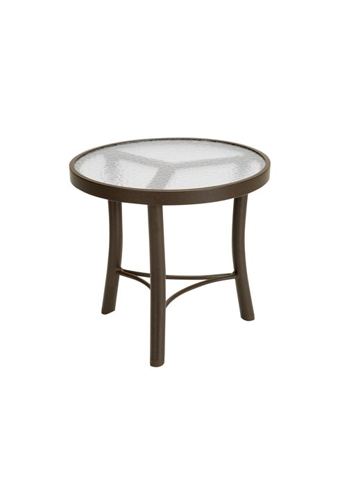 acrylic patio round tea table