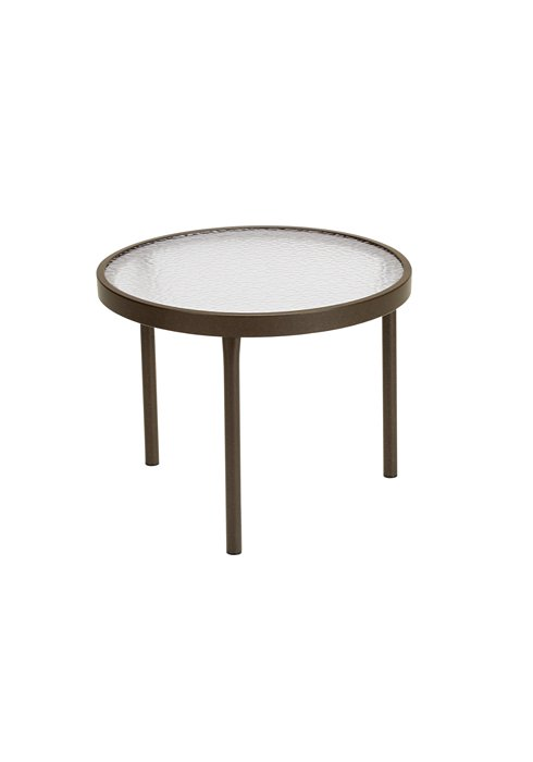 round outdoor acrylic tea table