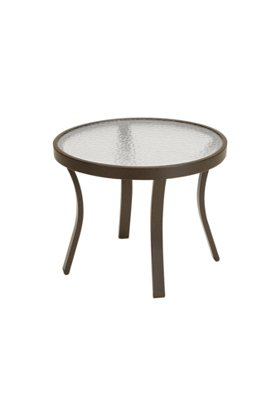 outdoor glass round tea table