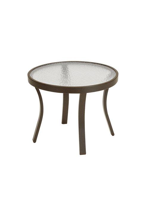 acrylic round tea table patio